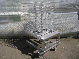 Mobile plat rack for combination oven