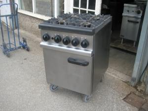 Lincat OG7001/N heavy duty 4 Burner gas cooker Refurbished.